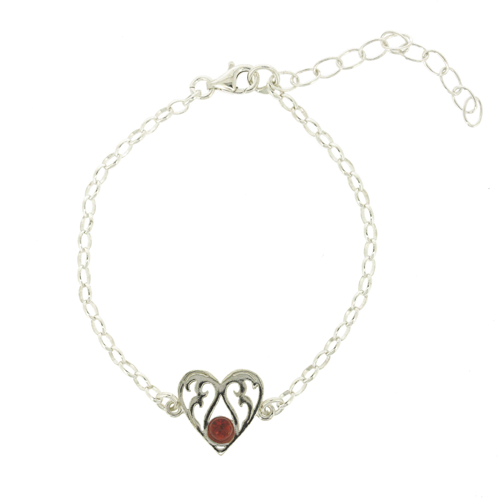 Classic Amber Burning Love Bracelet