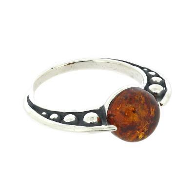 classic amber newton ball ring