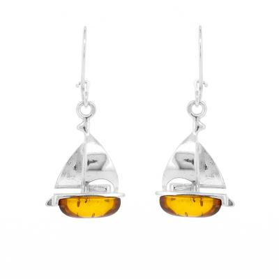 Classic Amber Yacht Earrings