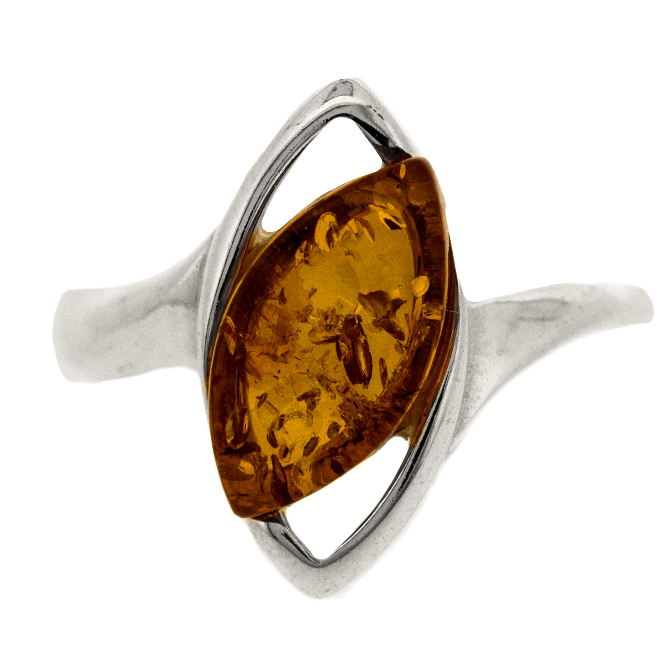 Classic Amber Cats Eye Ring