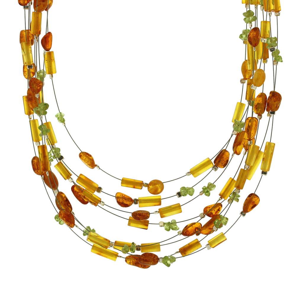 Bespoke Mixed Amber Bead Necklace