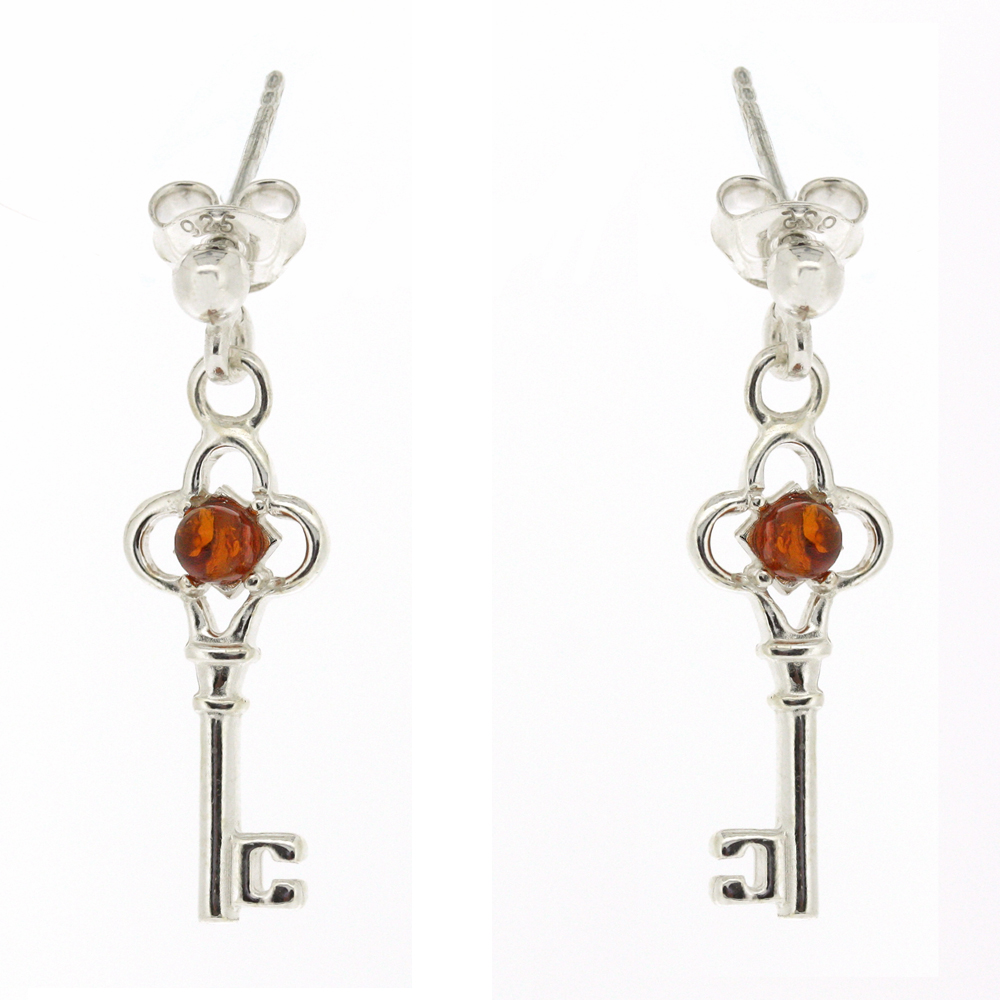 Classic Amber Key Earrings