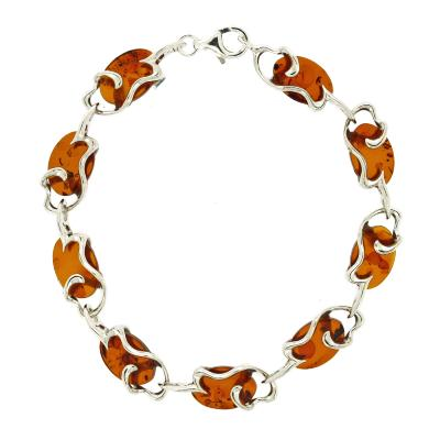 Classic Amber Wiggly Waves Bracelet