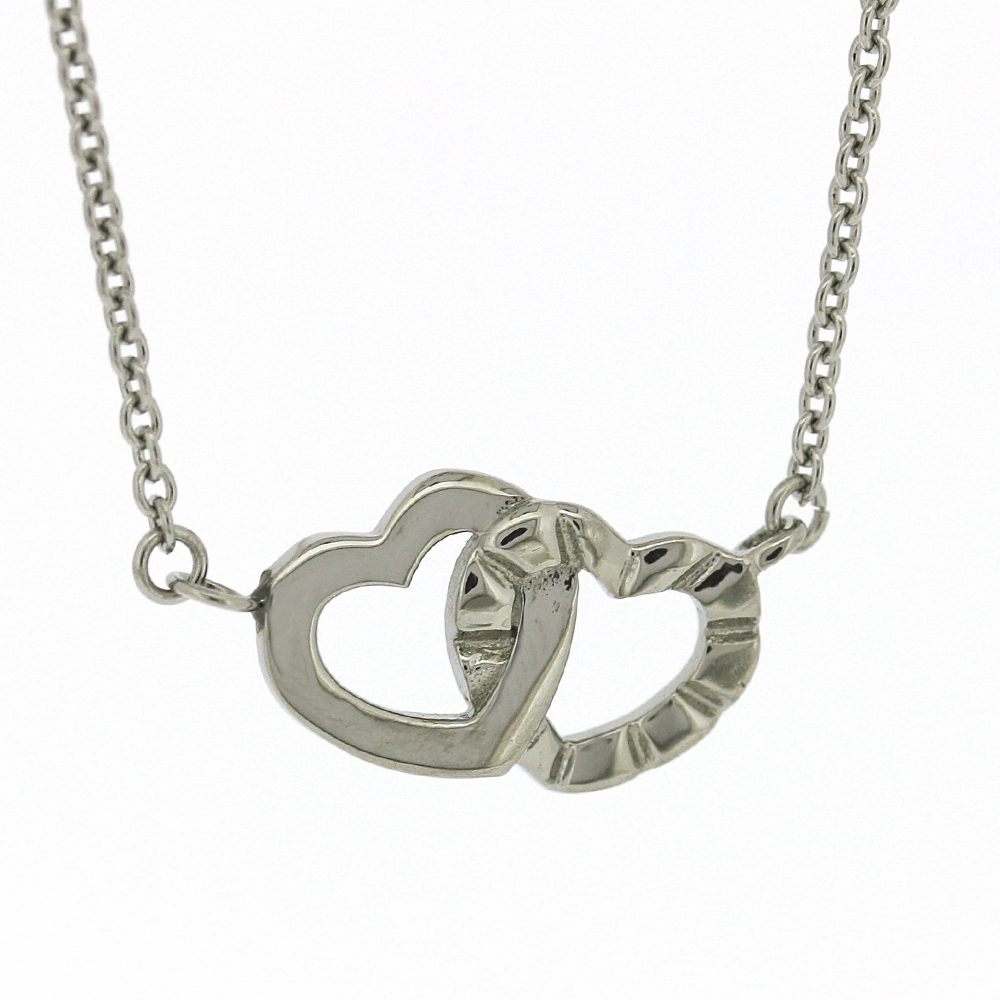 Nova Steel Double Heart Necklace