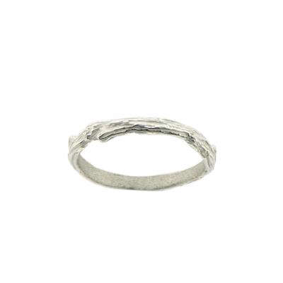 Kitten Textured Twigs Band Ring