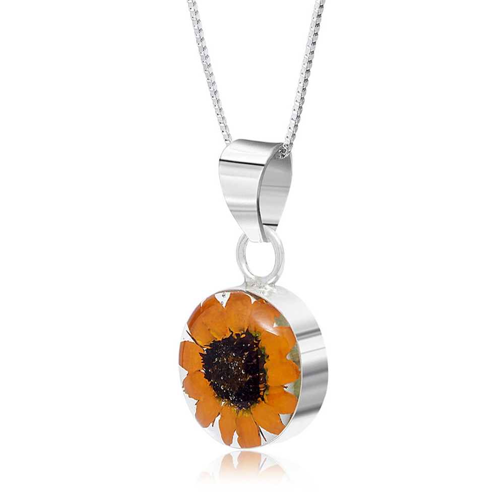 Shrieking Violet Sunflower Pendant