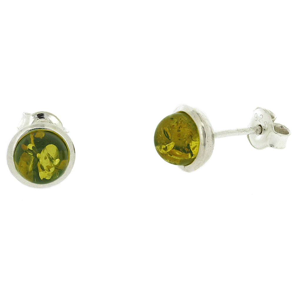 Amber Romance Round Stud Earrings