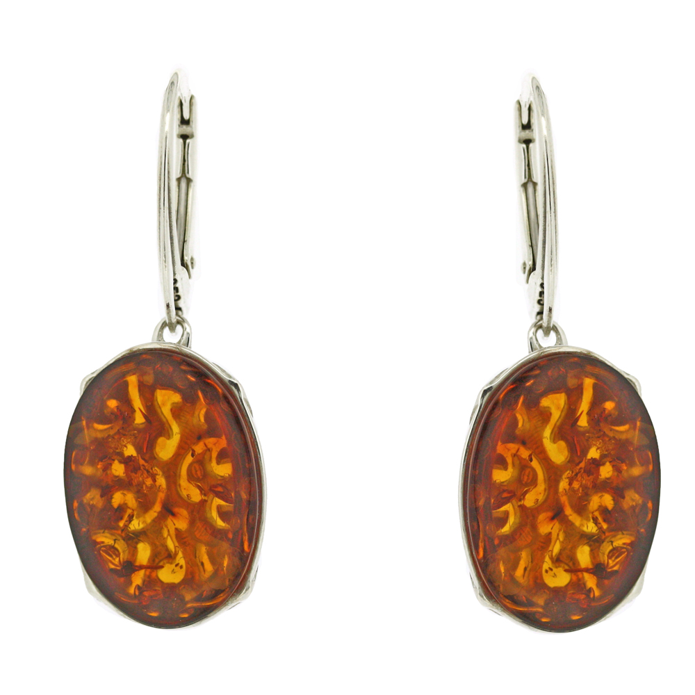 Classic Amber Cobra Drop Earrings
