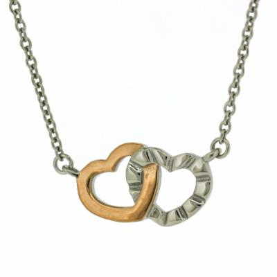 Nova Steel Interlocked Heart Necklace