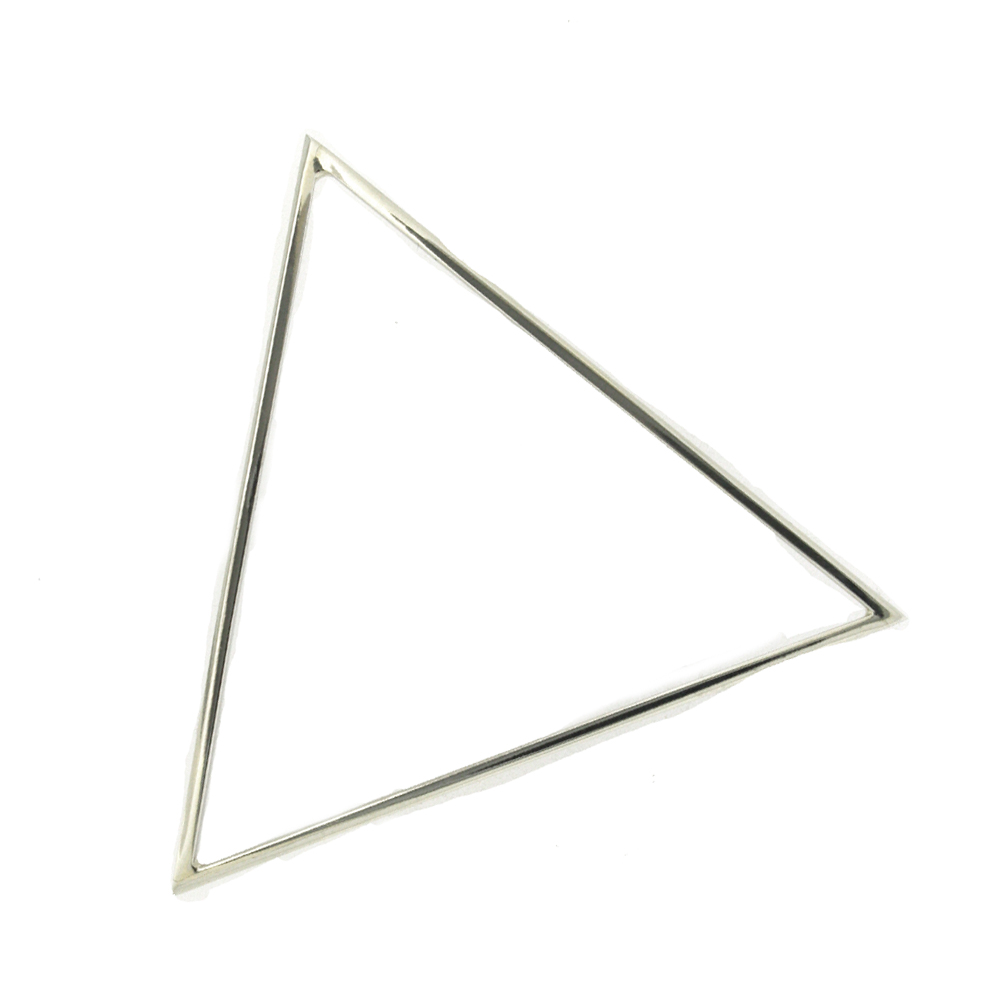 Simply Silver Triangle Bangle