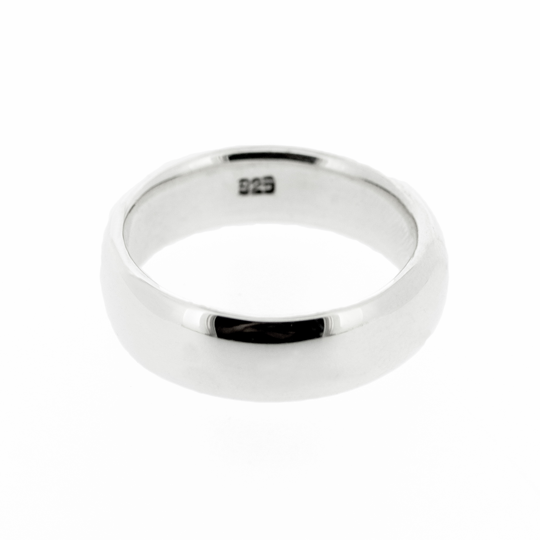 Simply Silver D Shape Band Ring