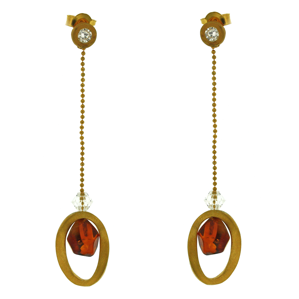 Amber Art Soiree Earrings