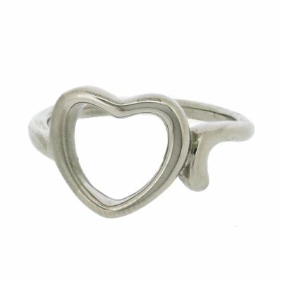 Nova Steel Cut Out Heart Ring