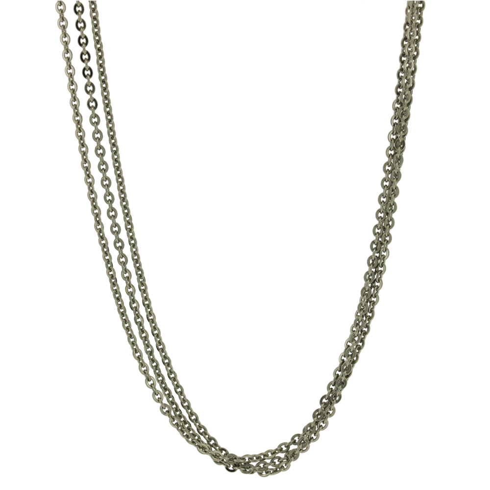 Nova Steel Three Strand Necklace