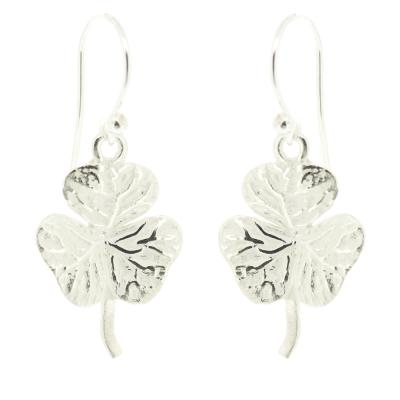Kitten Clover Leaves Drop Earrings