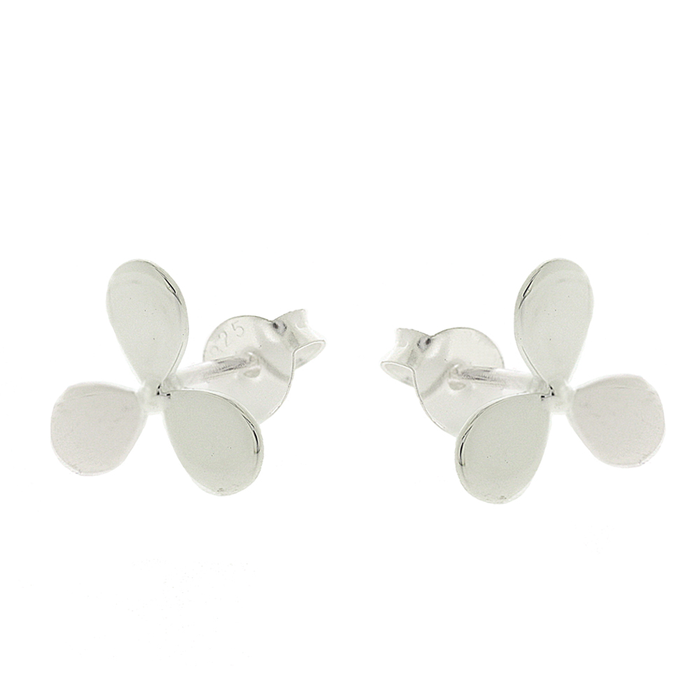 Snow Trillium Stud Earrings