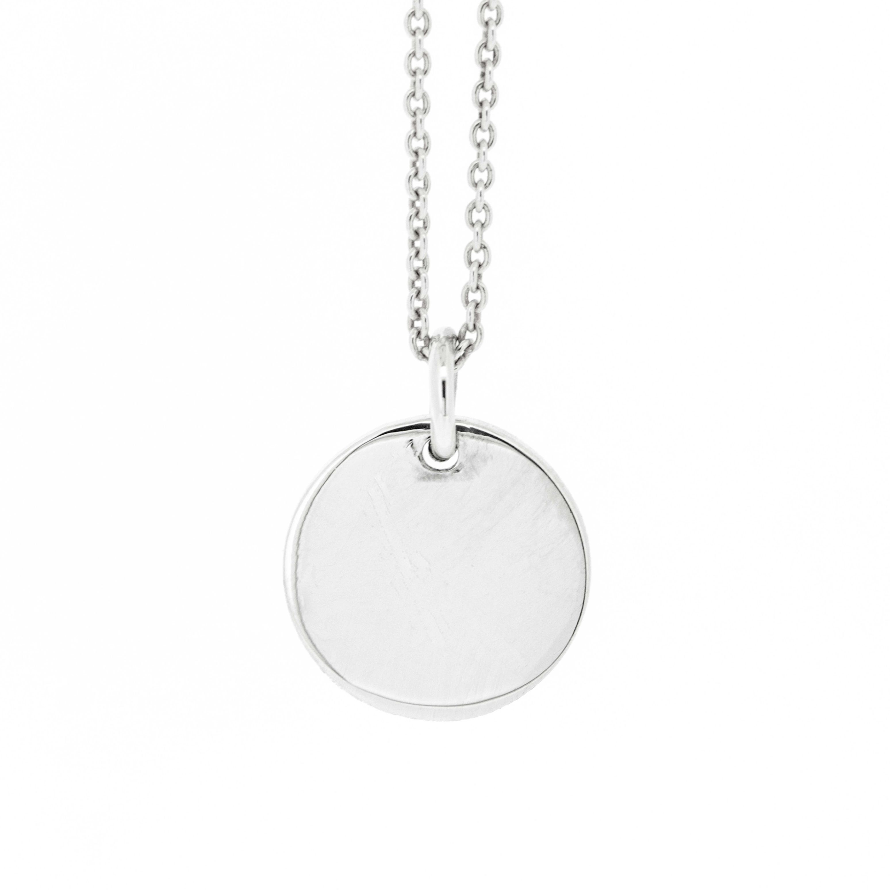 Simply Silver 12mm Disc Tag Pendant