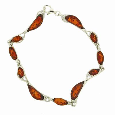 "Classic Amber ""Style"" Cognac Amber Bracelet"