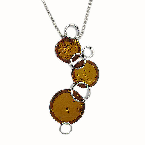 Amber Art Bubbles Necklace