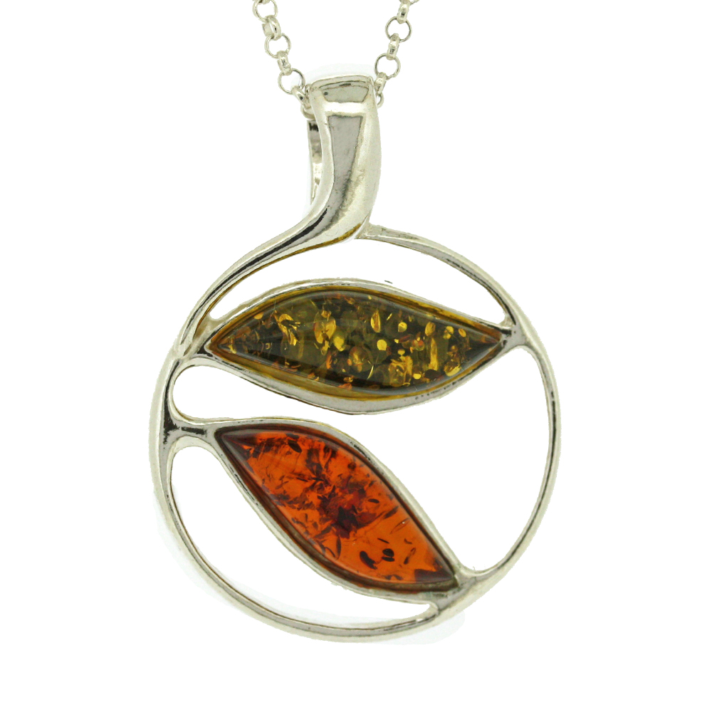 Classic Amber Double Waves Pendant