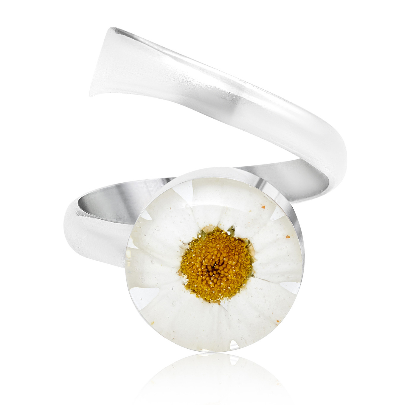 Shrieking Violet Daisy  Round Ring