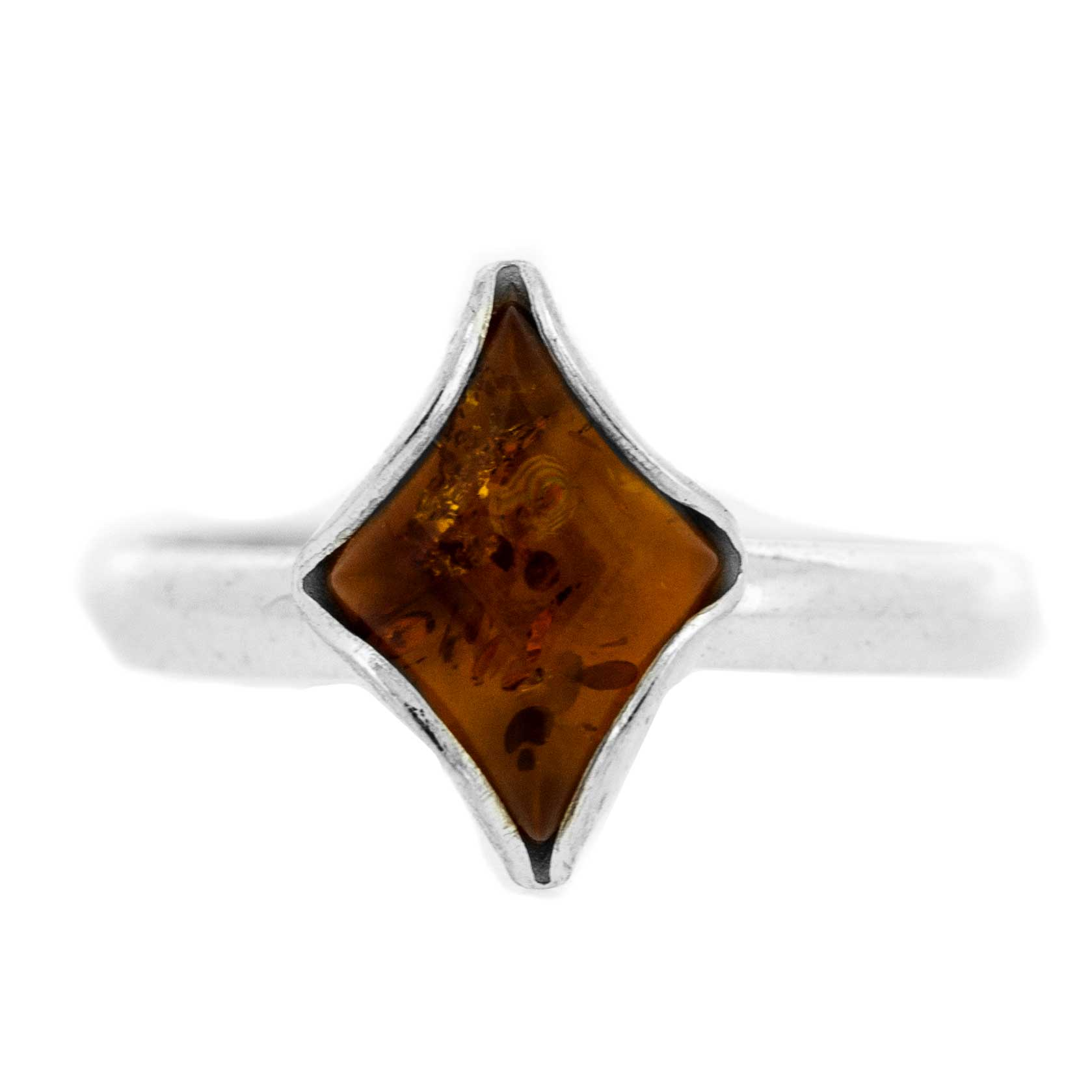 Classic Amber Diamond Ring