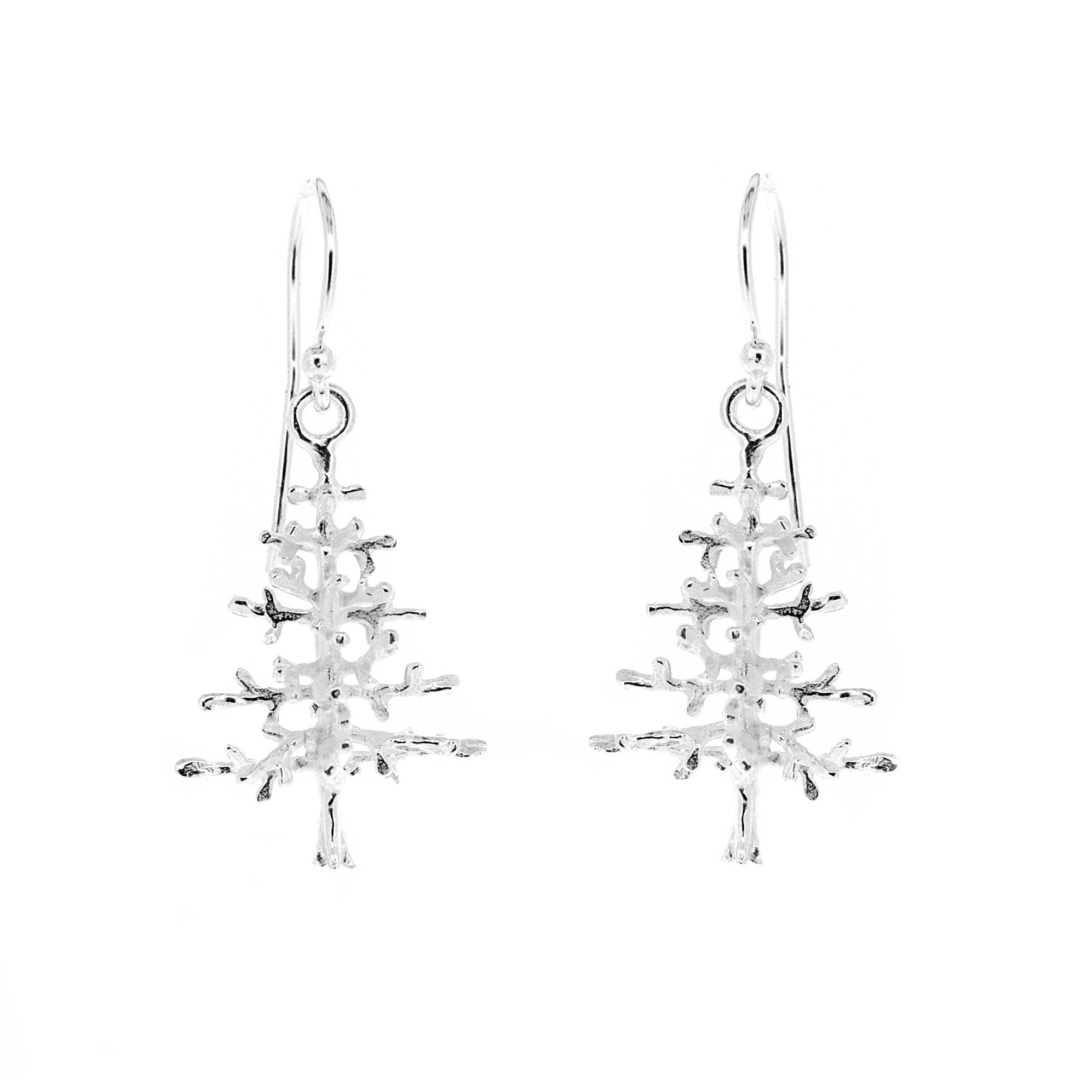 Kitten Christmas Tree Earrings