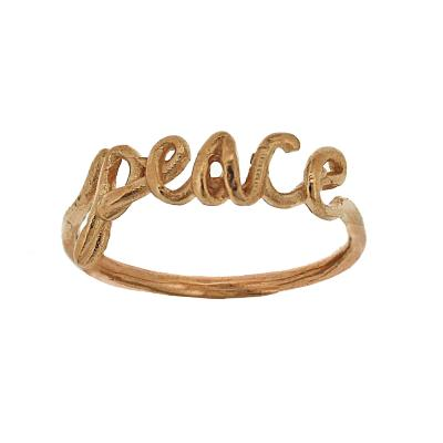 Kitten Inspiration Peace Ring