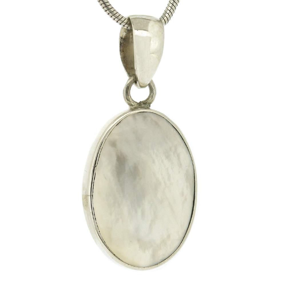 Bespoke Oval Mother of Pearl Pendant
