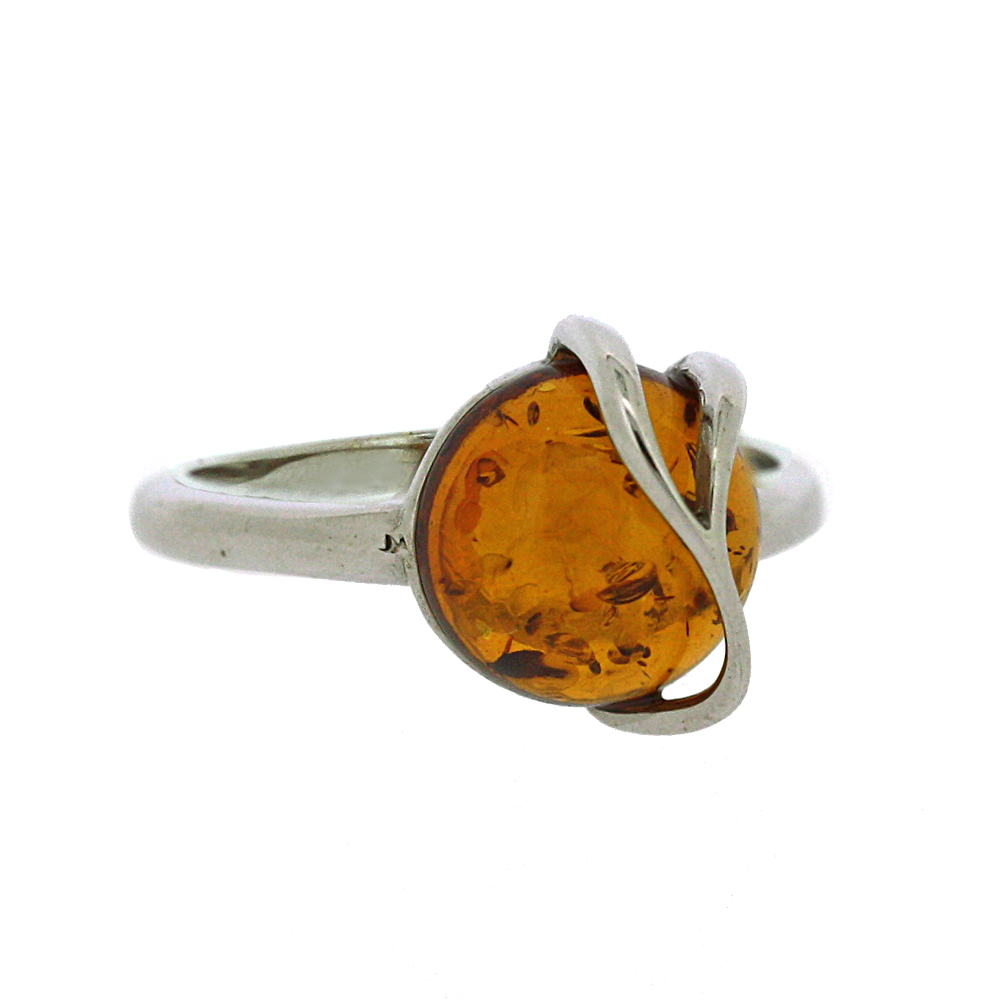 Classic Amber Zabelle Fancy Orion Cognac Ring