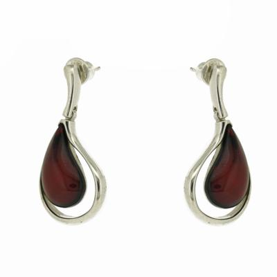 Amber Art Double Tear Drop Earrings