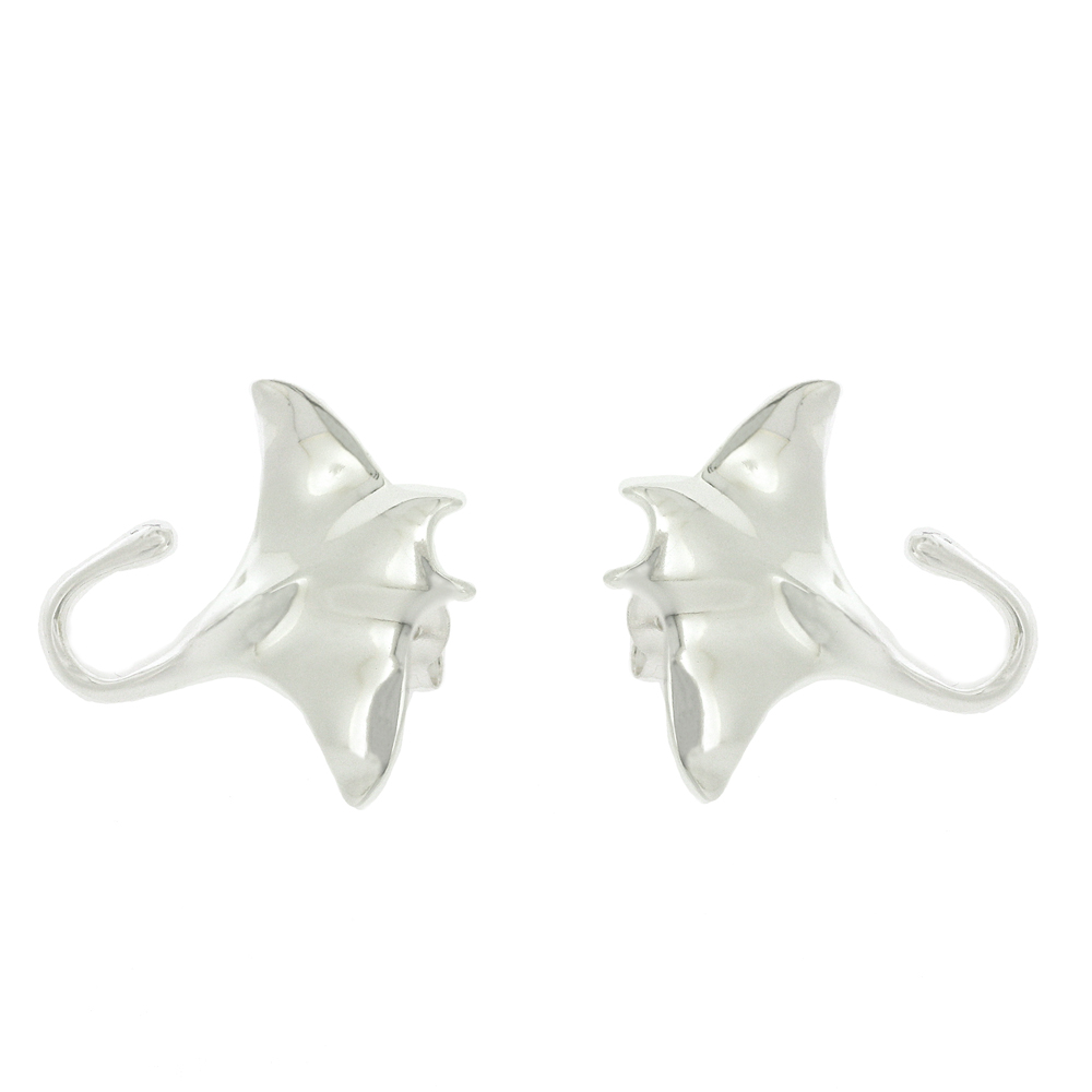 Kitten Manta Ray Stud Earrings