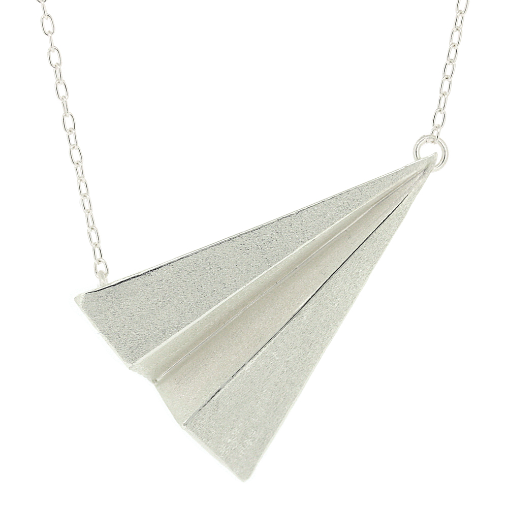 Kitten Paper Airplane Necklace