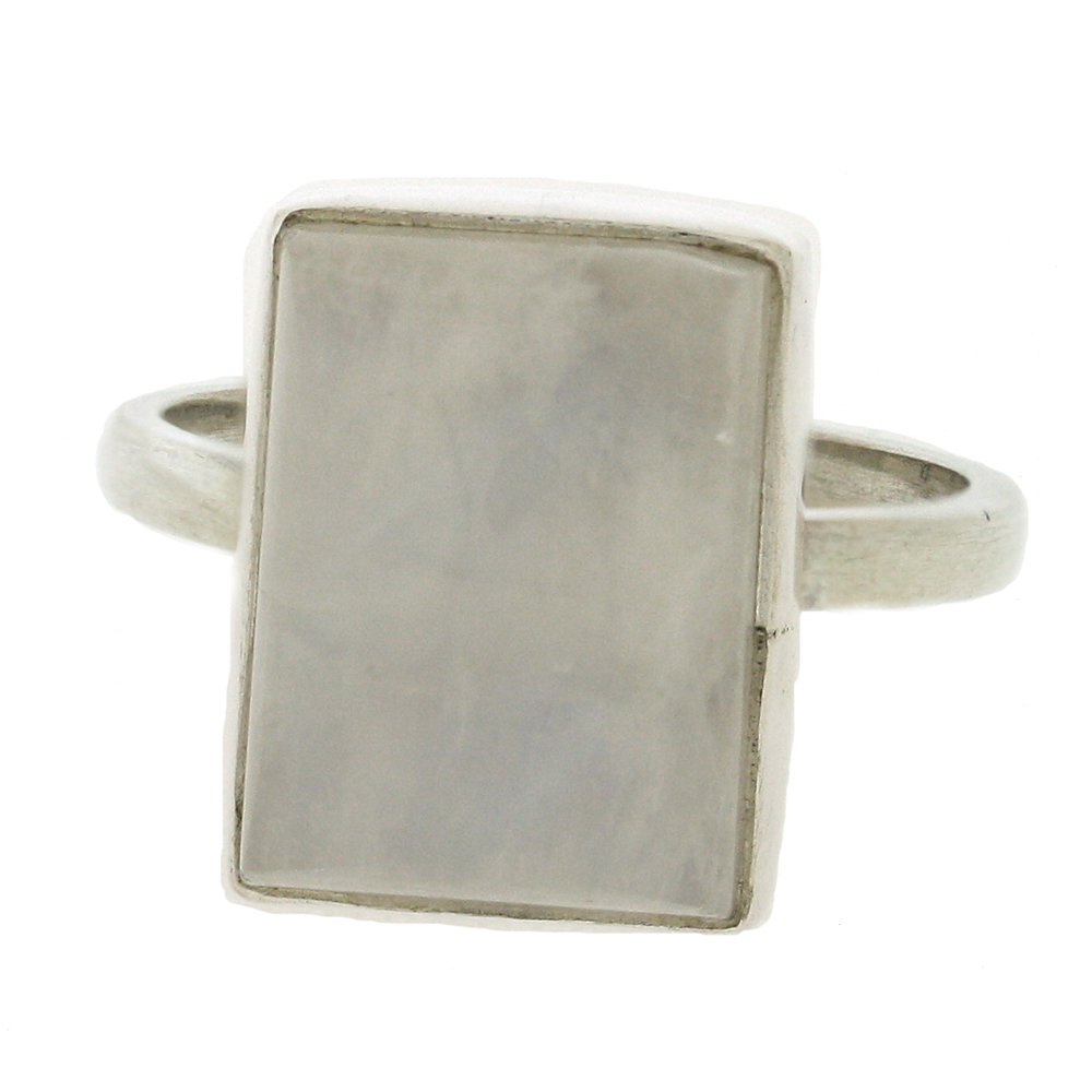 Small Rectangle Stone Ring