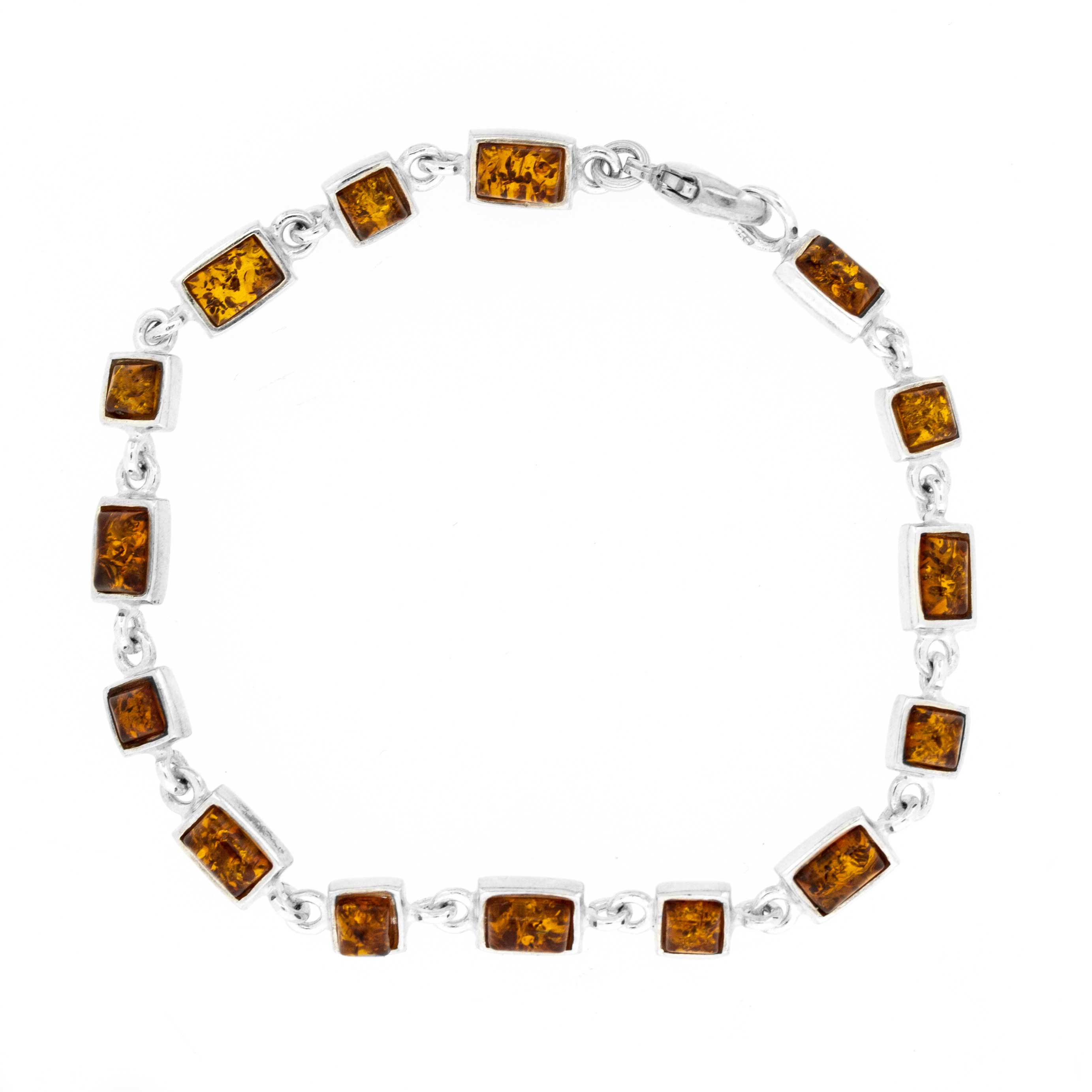 Classic Amber Square and Rectangle Bracelet