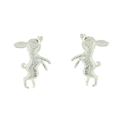 Kitten Boxing Hare Stud Earrings
