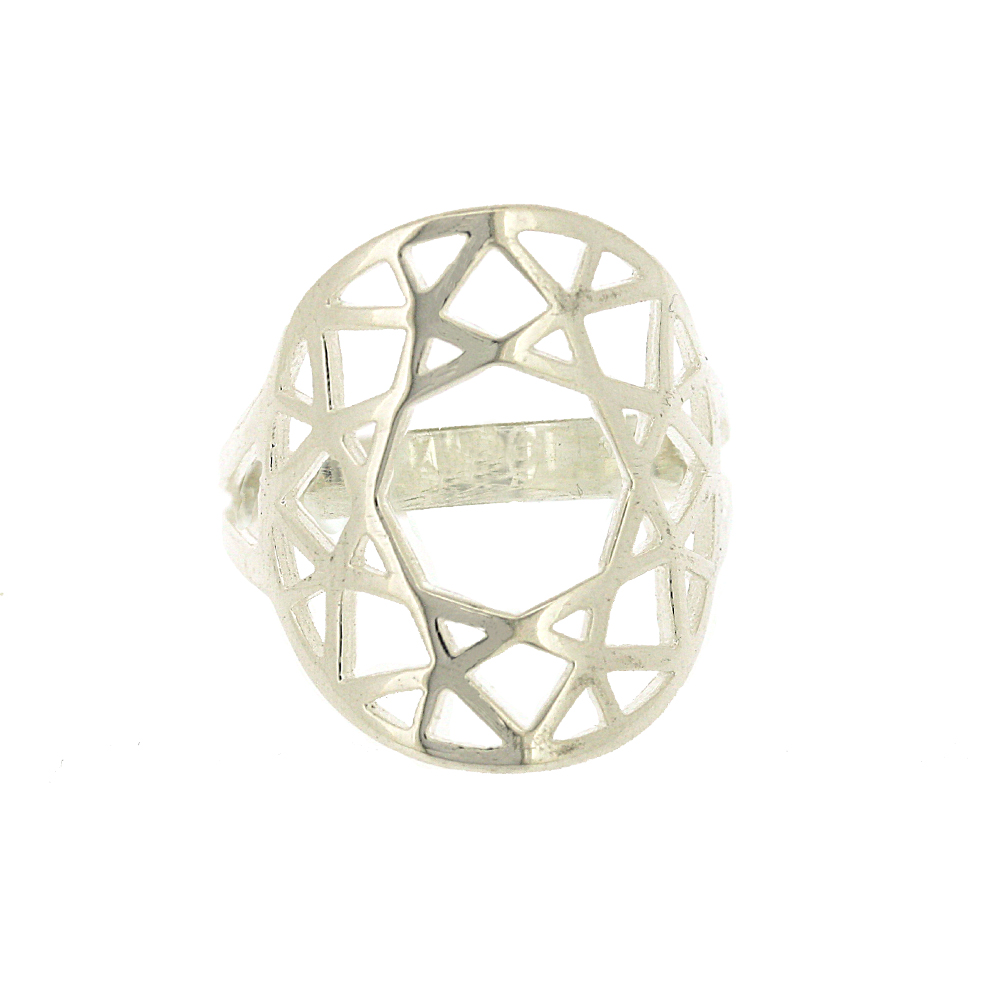Geo Diamonds Round Cut Ring