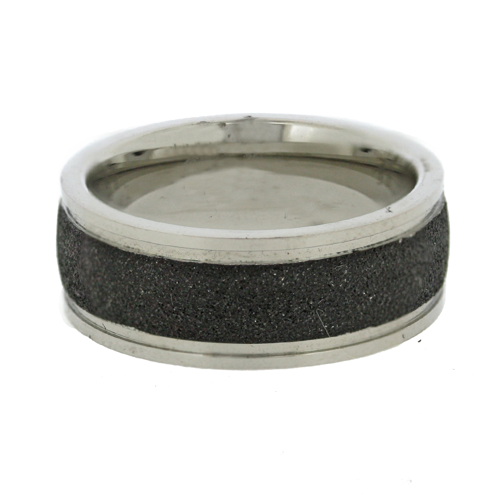 Nova Steel Black Diamond Cut Ring