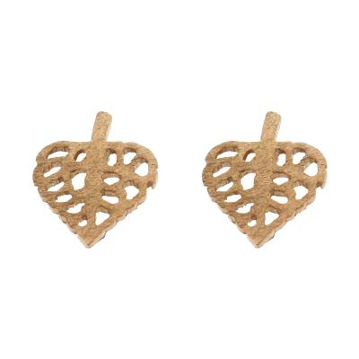Kitten Love leaf Stud Earrings