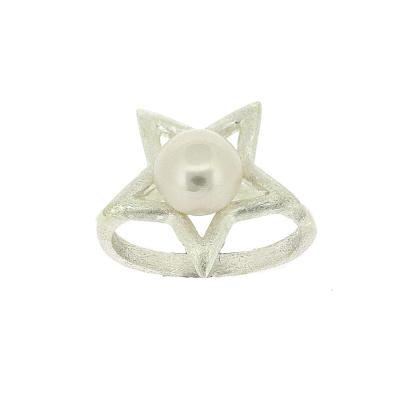 Kitten Star with Pearl Ring