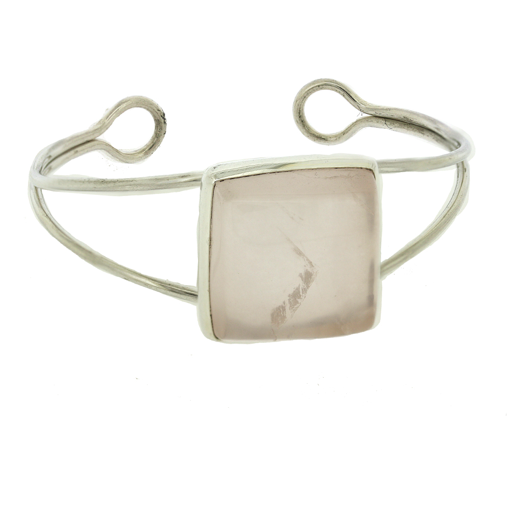 Bespoke Rose Quartz Bangle