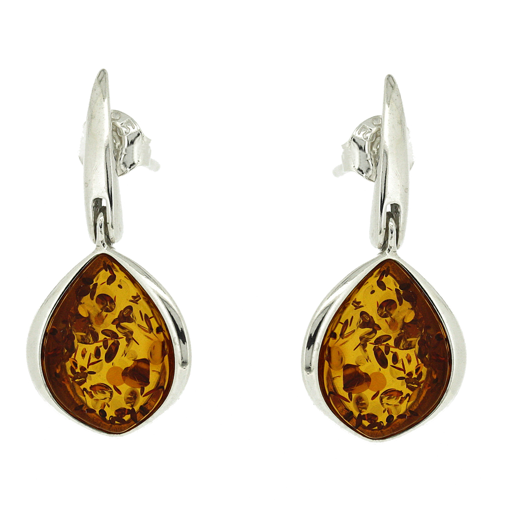 Classic Amber  Plum Earrings