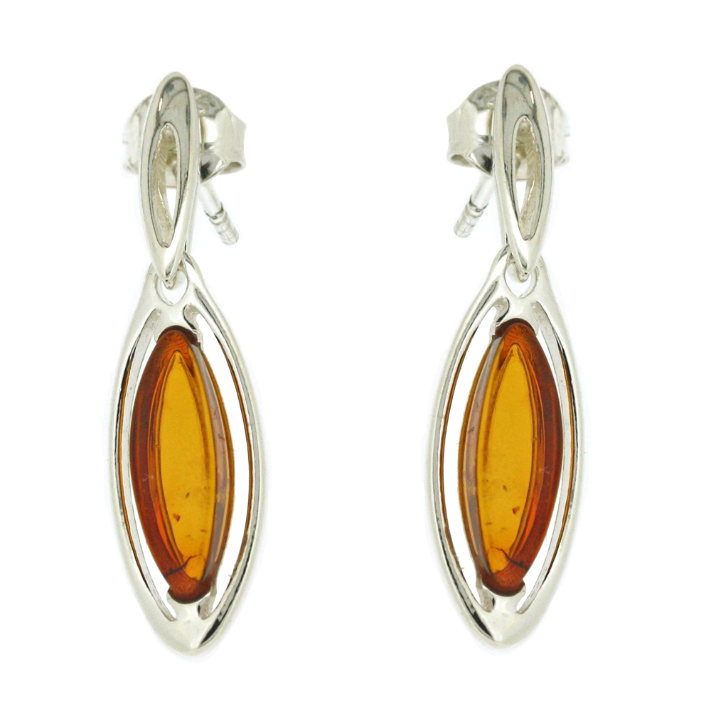 Classic Amber Slipper Earrings