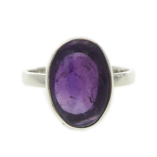 Small Oval Stone Ring