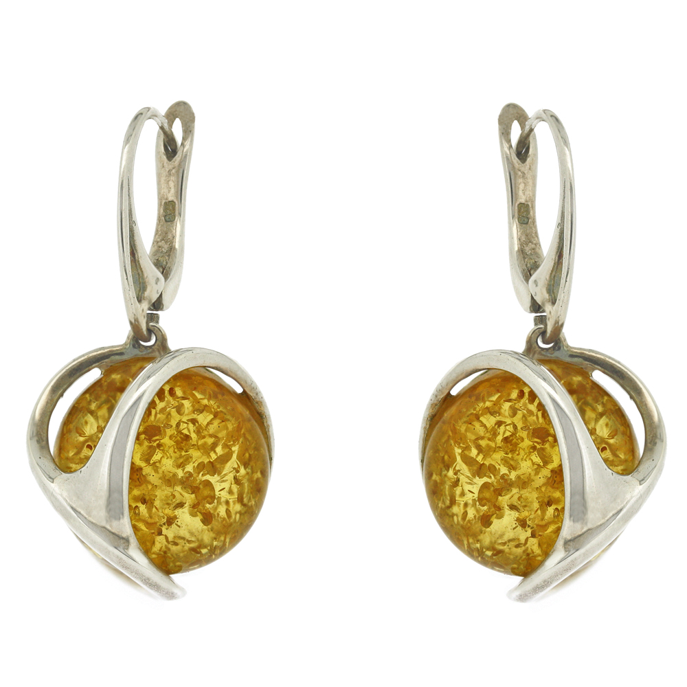 Amber Art Yellow Amber Orion Earrings