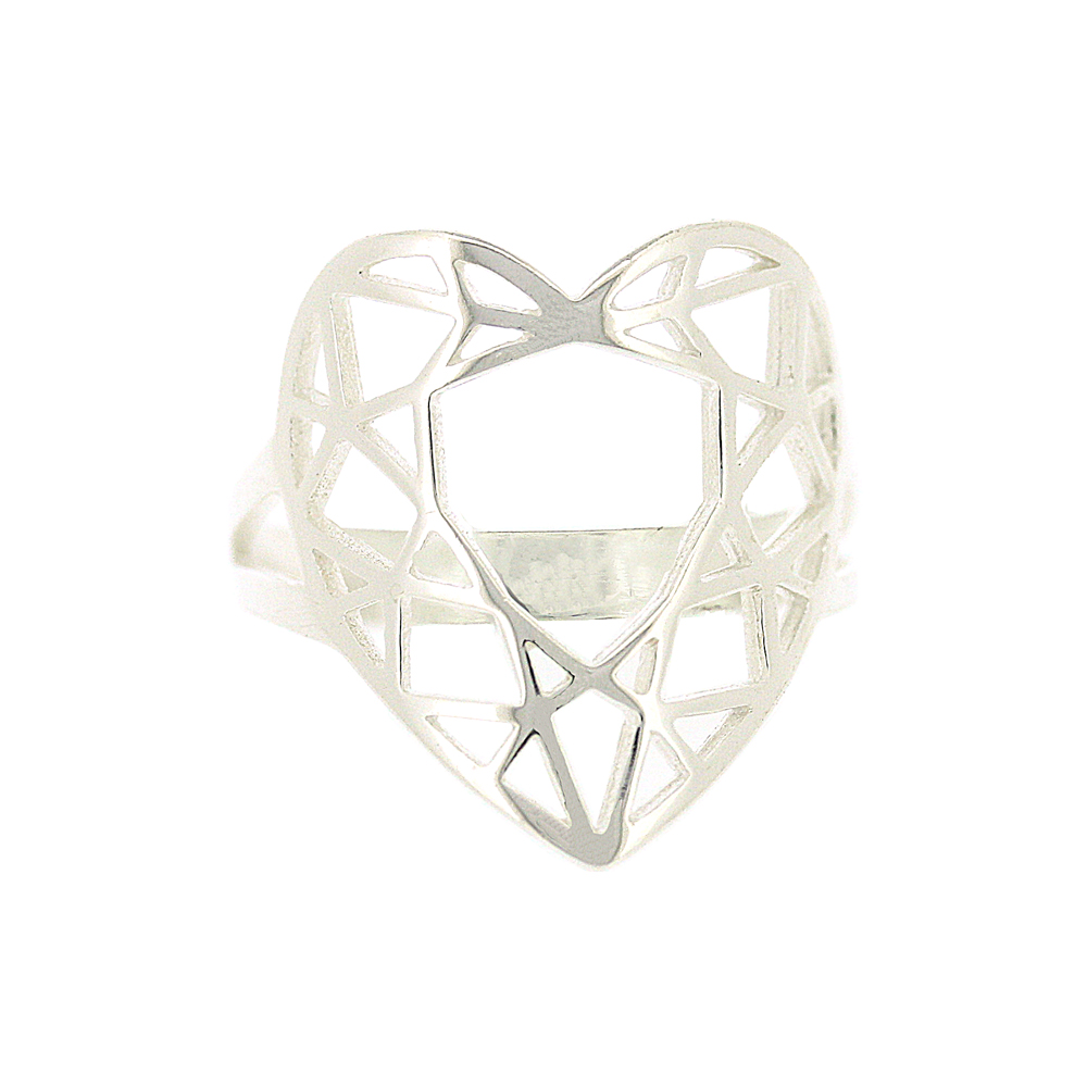 Geo Diamonds Heart Cut Ring