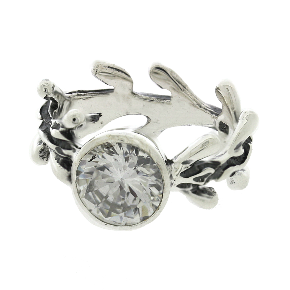 Twig Ring with Cubic Zirconia