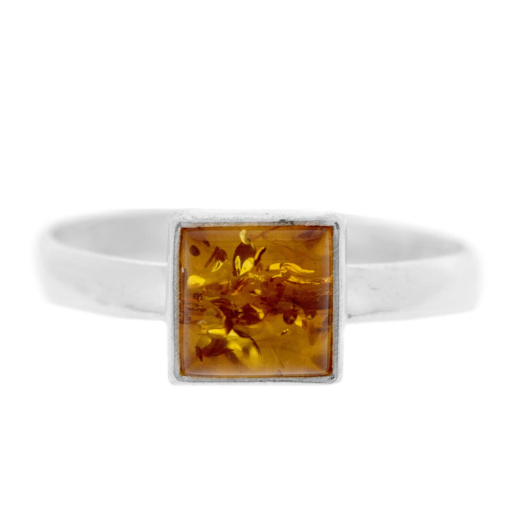 Classic Amber Square Ring