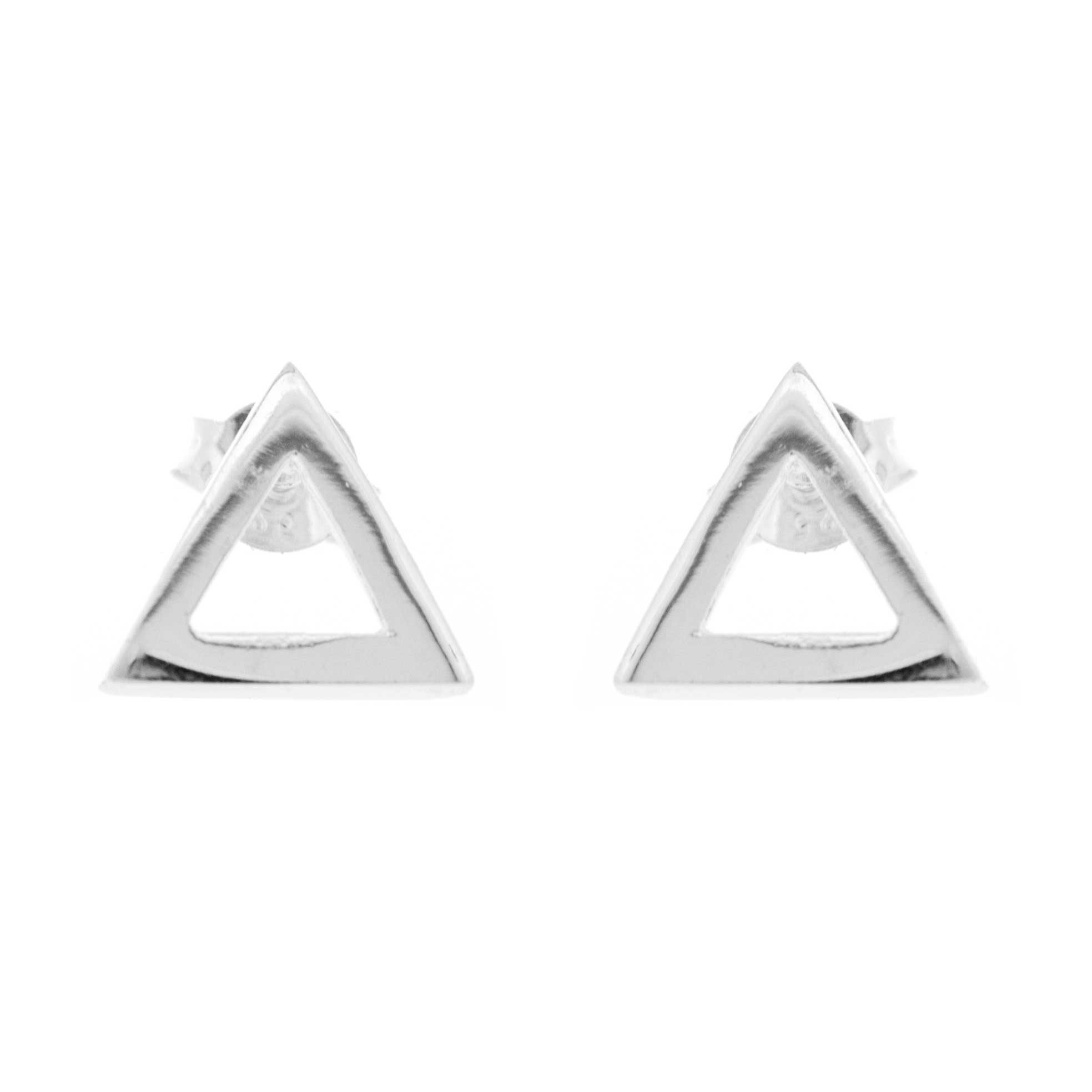 Simply Silver Triangle Stud Earrings