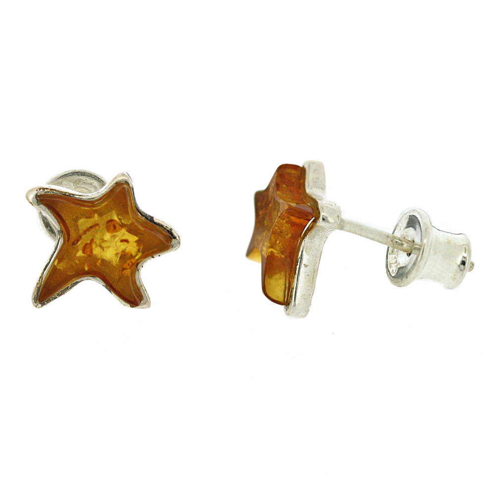 Amber Art Small Star Studs